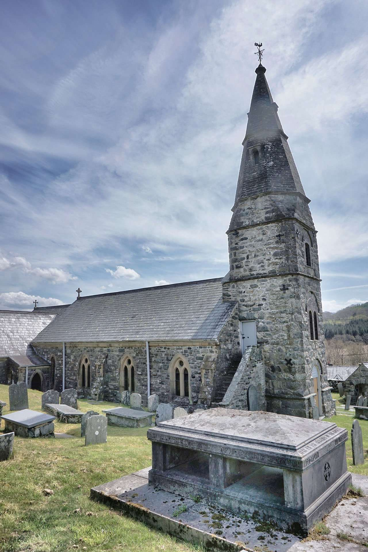 The Vaughan Vault and St. Machreth Church in Llanfachreth