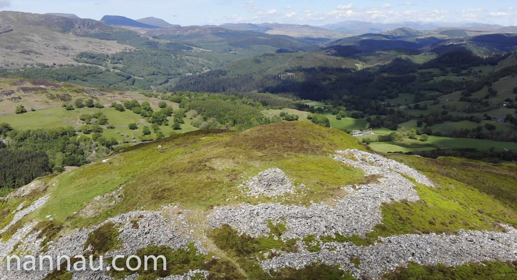 Above the Summit of Foel Offrwm (Drone)