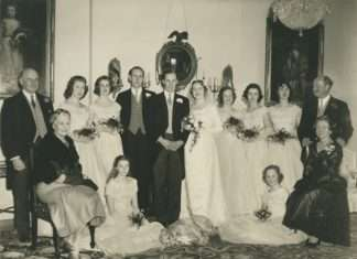 Susan Vaughan's Wedding in 1957. Photo courtesy of Philip Nanney Williams