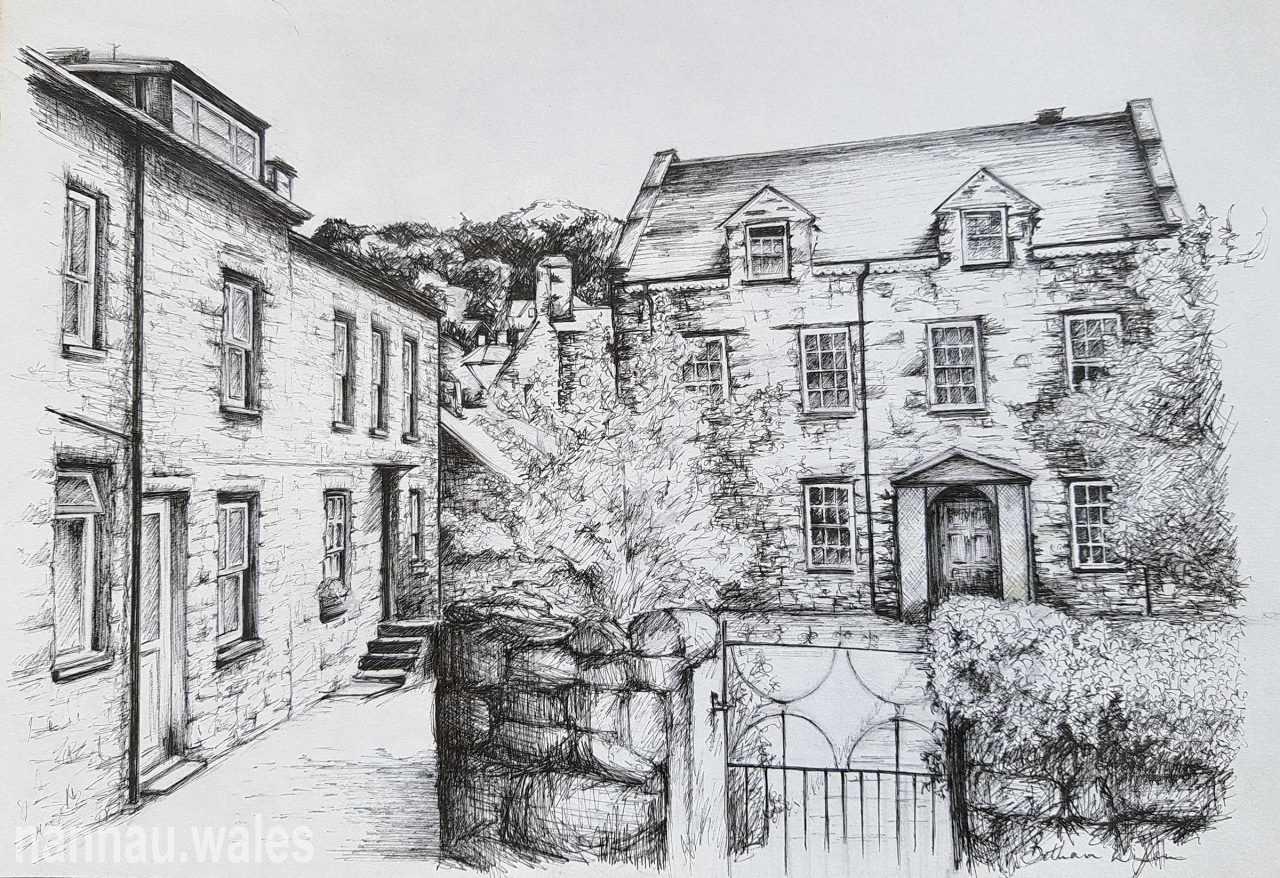Tan-y-Fynwent, Dolgellau (Drawing by Bethan Rowlands Wiffen)