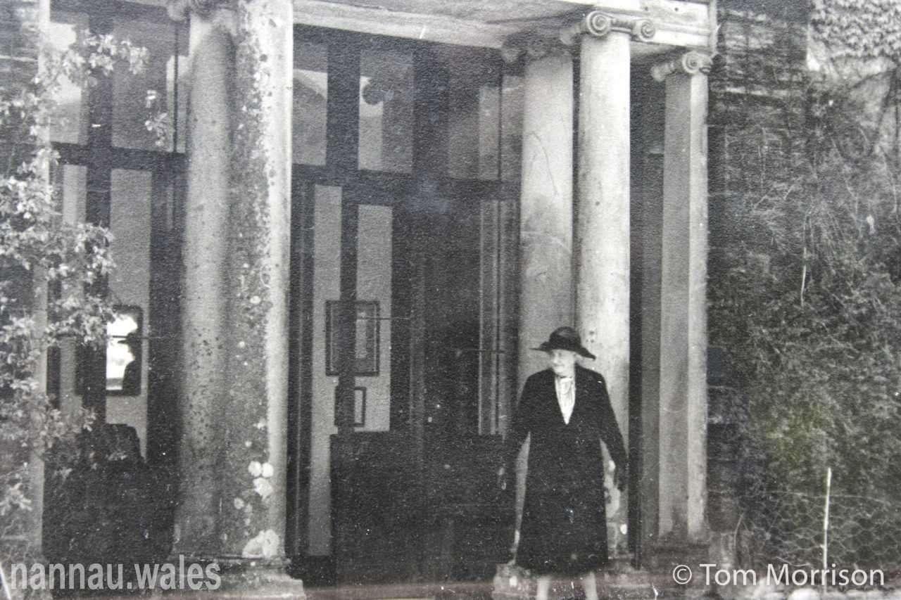Louisa Evelyn Vaughan (Widow of Major-General John Vaughan) Outside Plas Nannau Hall. Photo © Tom Morrison