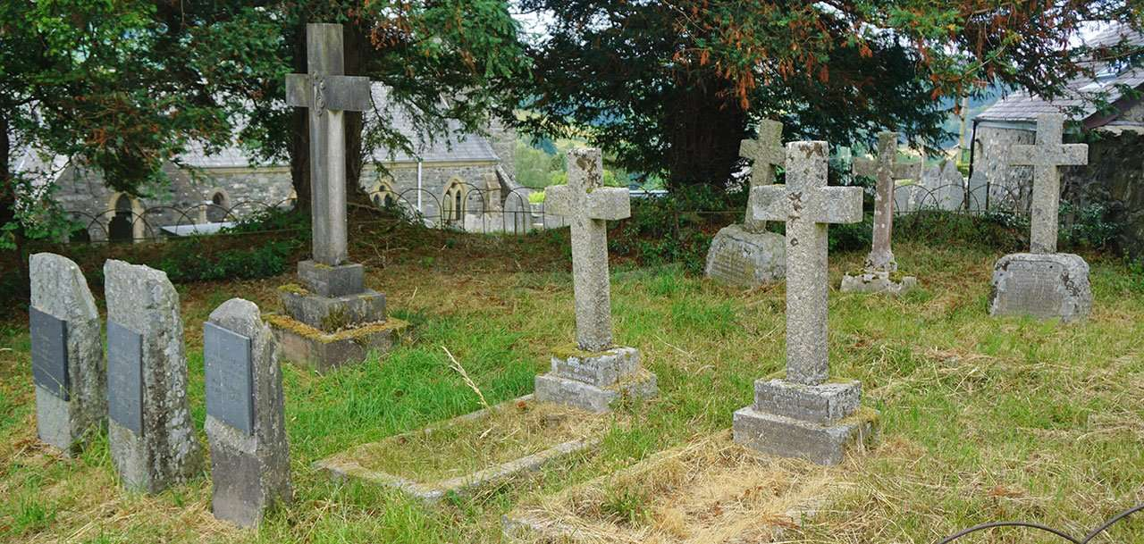 The Vaughan Family Plot at Llanfachreth