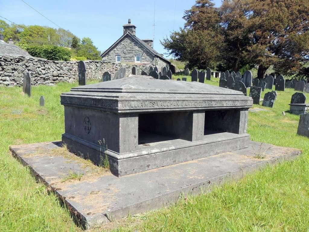 The Vaughan Vault at Llanfachreth Churchyard
