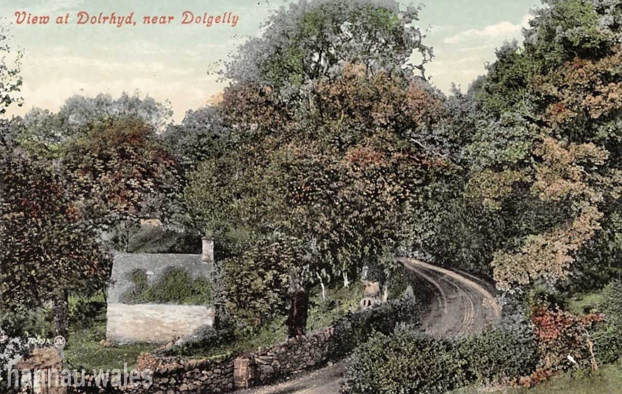 View at Dolrhyd Postcard