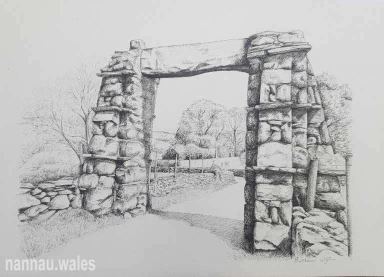 Y Garreg Fawr (Drawing by Bethan Rowlands Wiffen)