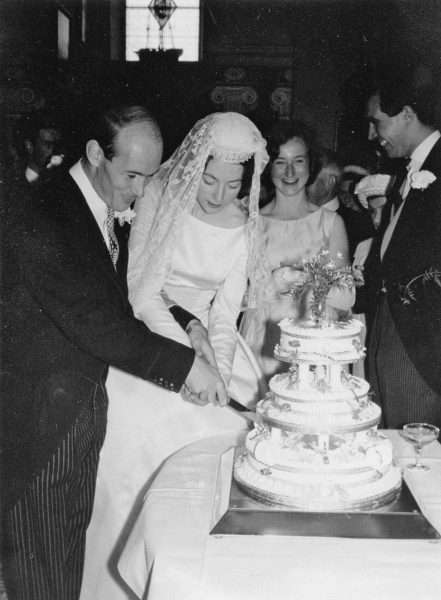 The Wedding Reception of Miss Molly C. V. Vaughan and Mr Ian. H. Davies in 1962