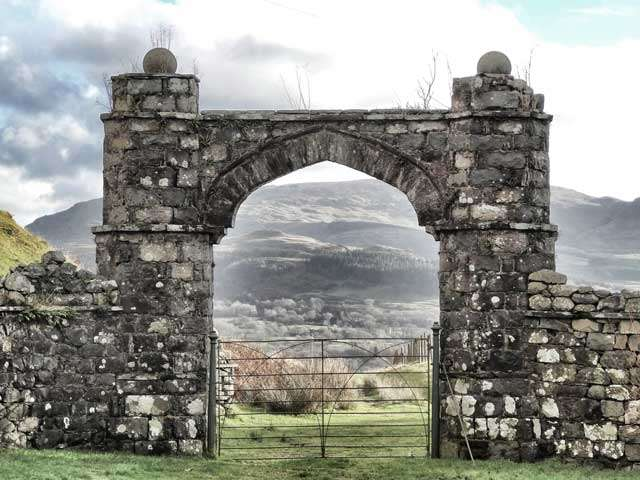 Looking Through the Arch of Hywel Sele Lodge